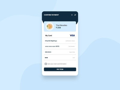 Credit Card Checkout Design #DailyUI #02