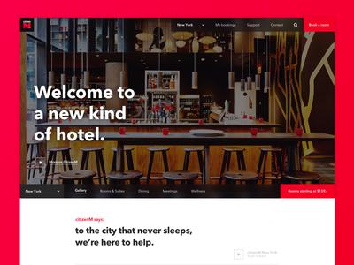 CitizenM Website Redesign