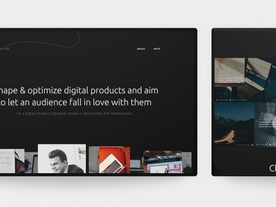 Personal project ui design web design web typography minimal flat clean