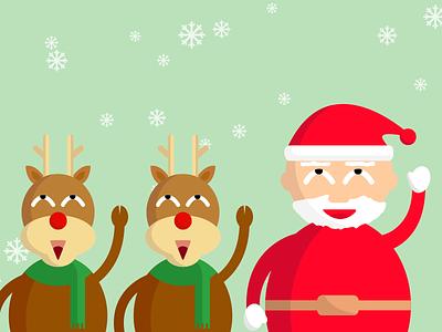 Christmas Eve christmas-eve christmas xmas santa-claus santa reindeer snow