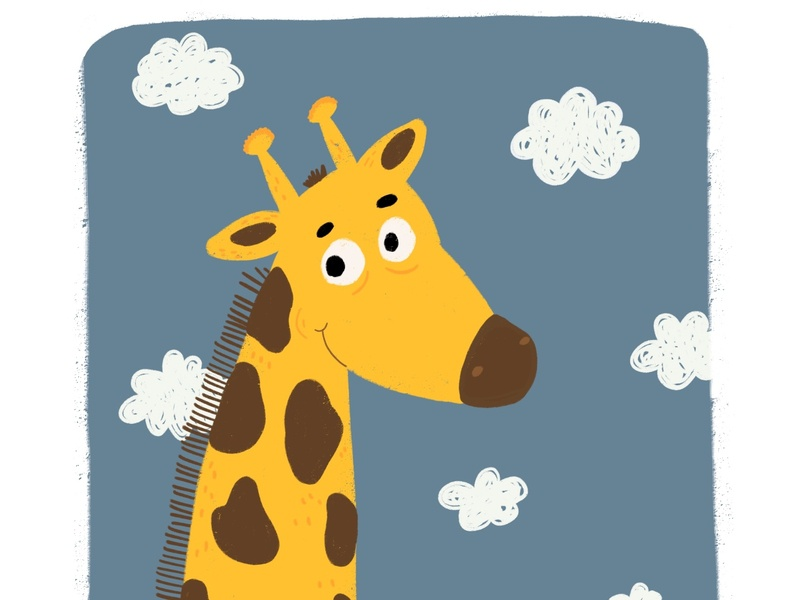 Giraffe giraffe kids books children book character children book illustration flat editorial art design procreate illustration art illustration