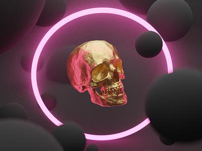 Gold Skull blender3d blender