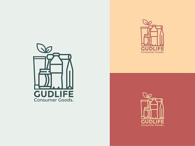 Gudlife Consumer Goods Logo symbol icon brand identity vibrant products fmcg consumer branding consumer goods food and drink design icon typography illustration flat vector logo branding