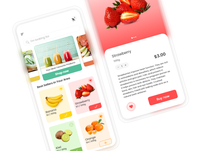 Grocery store mobile app ios app android app design ui desgin ecommerce shop e-commerce app shop food and drink grocery android app adobe xd minimal design app ux ui
