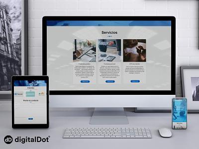 Diseño y desarrollo web Andseed digitalDot minimal ui vector responsive ux website web branding logo design