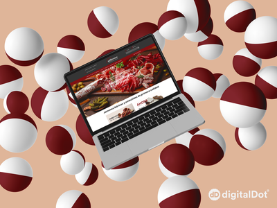 Diseño web Jamones Herrero - mHerrero laptop web design summer jamon mockup logo illustration website design