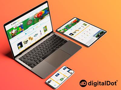 Diseño web Agroanimal birds pet mockup smartphone laptop tablet orange devices shop graphicdesign webdesign design