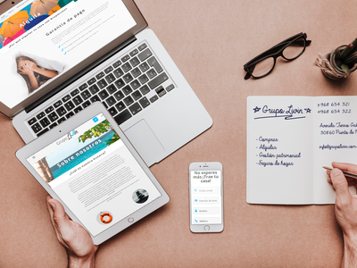 Diseño web GRUPO LIVIN branding logo identity responsive web website design