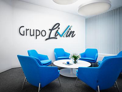 Diseño logo GRUPO LIVIN identity branding web logo design