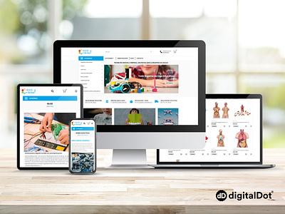 Diseño web CIENCIA Y ROBÓTICA branding illustration identity responsive web website design