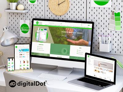 Diseño web ARDELY app illustration identity vector responsive web website branding logo design