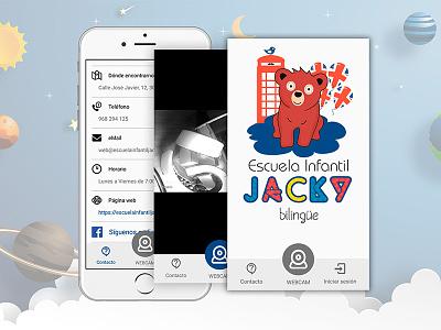 Diseño y Desarrollo de APP Jacky Escuela Infantil animation app ui identity vector ux responsive branding logo design