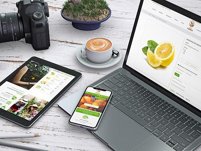 Tienda Online The New Farmer ui identity vector ux responsive website web branding logo design