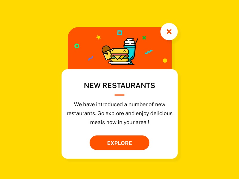 Pop Up - Daily UI #016 android orange interface design vector daily ui dailyui illustration app ios ui