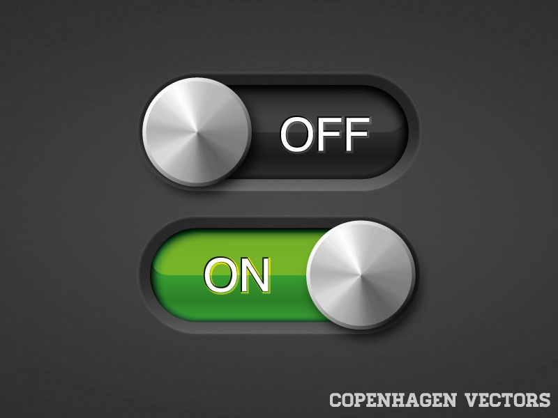 On/Off slider adobe copenhagen download free presentation product realistic vector vectors www.copenhagenvectors.com onoff on off slider