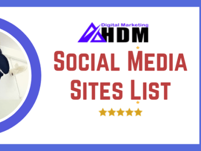 Top Social Media Sites List seo ppc web logo digitalmarketing design