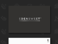 Edensweet logo on cards