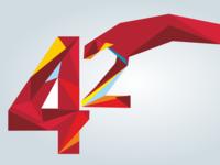 42 anniversary logo