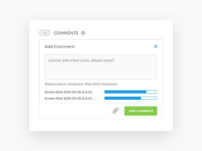 Developer Portal Comment Attachments game web developer product messaging communication ux attachment ui