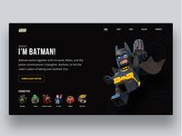 The Lego Batman Movie Landing Page Concept