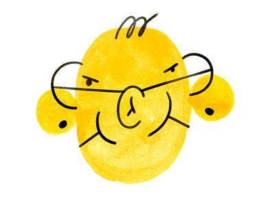 Multitask head character design art illustration design