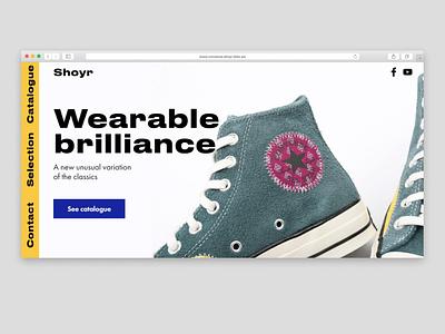Shoe Shop fitness typography minimalism web uidaily design landingpage webdesign dailyui ui