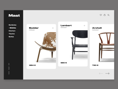 Product card furniture