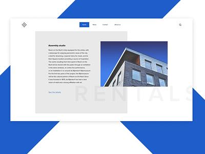 Header Navigation webdesign uidaily typographic typography minimalistic minimalism header design header dailyui ui