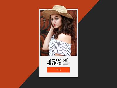 Redeem Coupon typography shopping elegant design web ui dailyui