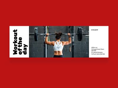 Workout of the day workout of the day workout fitness minimalism webdesign dailyui