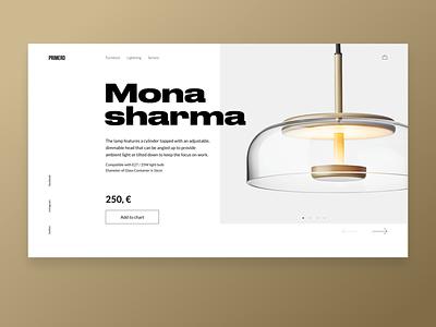 Lightning store One Page lighting lamp minimalistic design minimalistic furniture design landingpage minimalism typography web webdesign ui