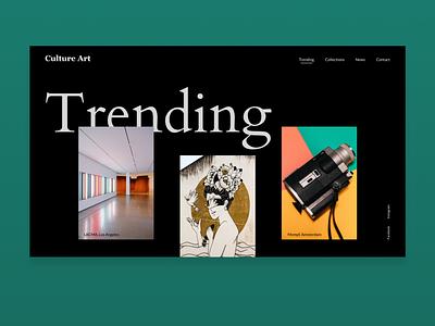 Trending exhibition art minimalistic typography minimalism landingpage web design uidaily ui webdesign dailyui