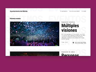 Event listing event listing ui design typography minimalistic landingpage minimalism uidaily web webdesign dailyui