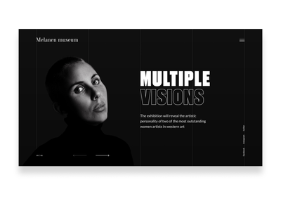Image slider design typography landingpage minimalistic darkmode minimalism grid webdesign web ui dailyui