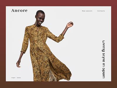 One page typography minimalism landingpage ui webdesign