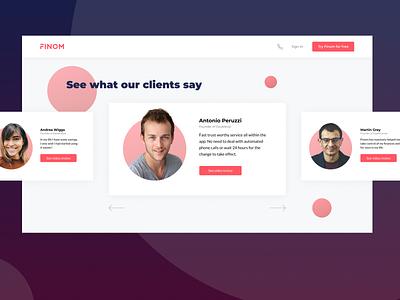 Social proof page ui landingpage opinion clients social proof web webdesign