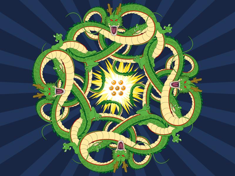 Mandala Dragon Ball dragon ball z dragon ball sheron design project mandala illustrator art illustrator