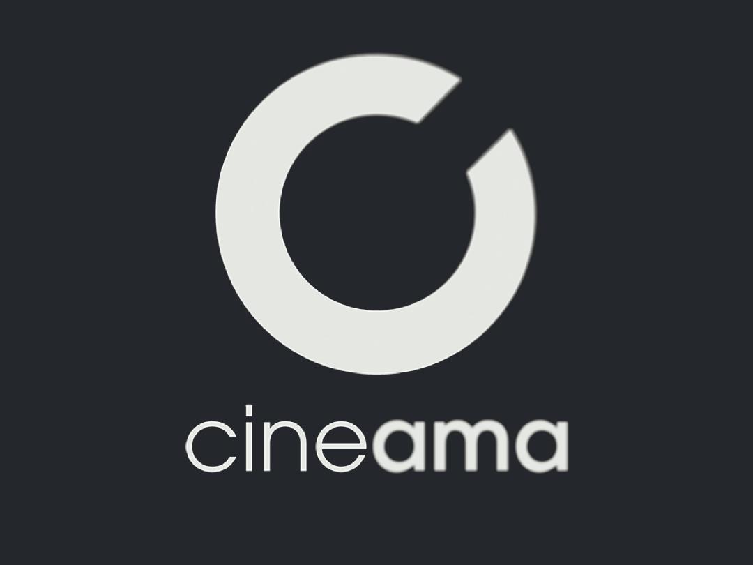 Cineama typography vector brandid movie blur flat logodesign logo