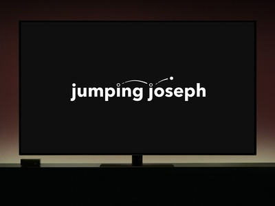 Jumping Joseph jumping joseph quirky memorable modern sans serif fresh stationary ident animation clean minimal workmark vector identity screenplay movie screenwriter hollywood logo design branding