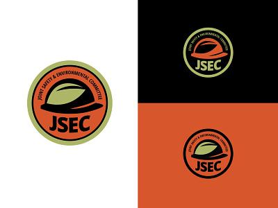 JSEC Logo Concept badge thicklines sticker leaf hardhat graphicdesign logodesign logo