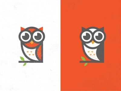 Spectacled Owl illustration texture owl logo nerd owl illustration icon design owl