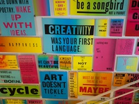 Creativity was your first language.