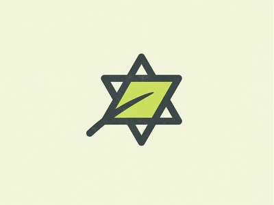 B'Nai Jehudah Logo design logo religion jewish judaism green growth leaf star