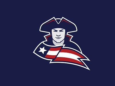 Patriot Mascot starstripes school patriot design logo