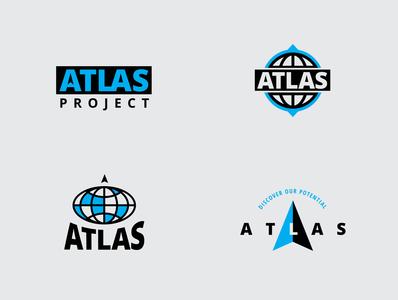Atlas Logo Design Exploration globe bold logodesign logo atlas