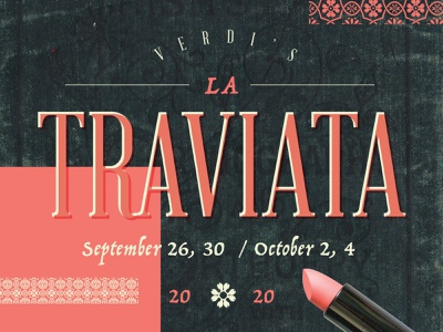 La Traviata layout typography design opera poster