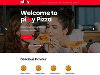 Pitzy - Pizza Online Ordering eCommerce PSD Template