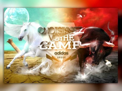 Adidas - Energy connexion letter design graphic  design digital painting control meeting horse pegasus bull chaos sport illustration design