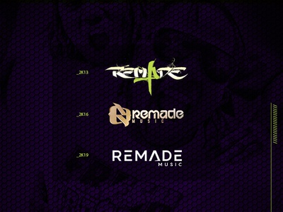 Identity - Remade Music hip-hop music label music letters vector monogram lettering logo identity graphic  design design