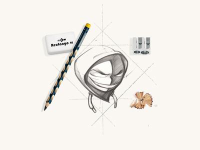 Logo sketch - Shado drawing sketch hip hop logo vector identity graphic  design illustration design